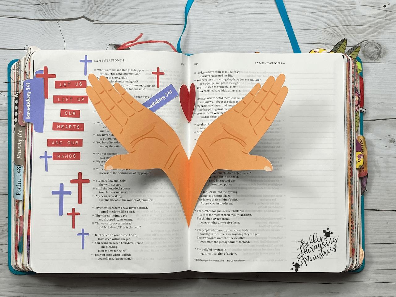 Lamentations 3:41