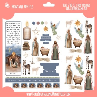 luke 2_10-12 Good Tidings Bible Journaling Kit