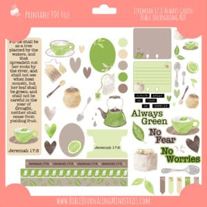Jeremiah 17:8 - Always Green Journaling Kit