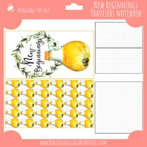 New Beginnings Notebook Insert