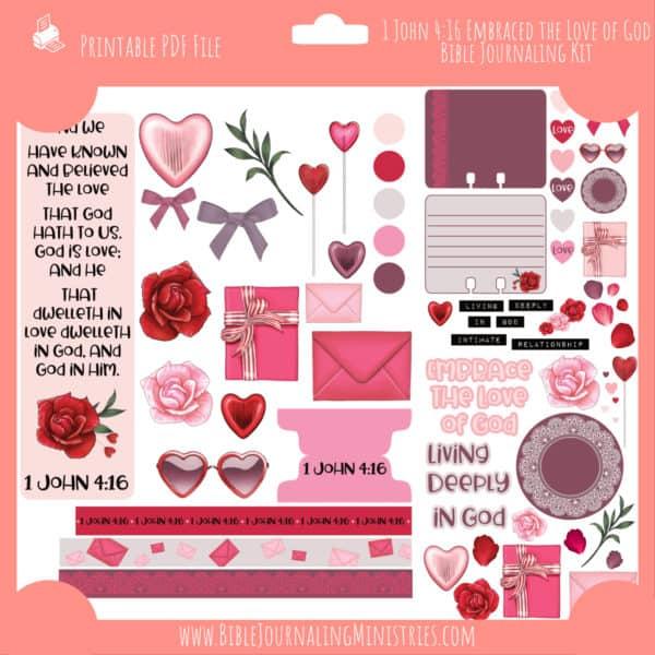 1 John 4:16 - Embraced the Love of God Journaling Kit