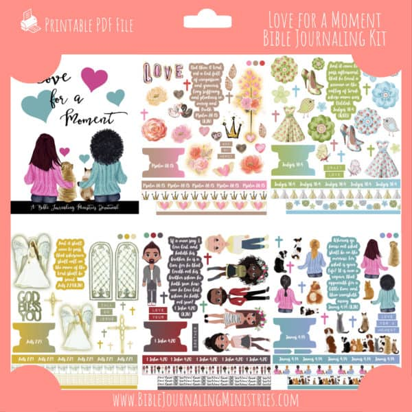 Love For a Moment Bible Journaling Kit and Devotional - February 2021 Kit