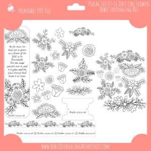 Psalm 103:15-16 Days Like Flowers Journaling Kit