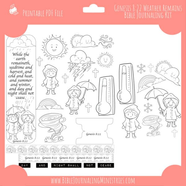 Genesis 8:22 - Weather Remains Journaling Kit