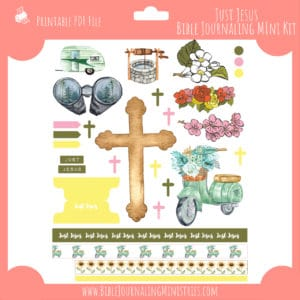 Just Jesus Mini Bible Journaling Kit