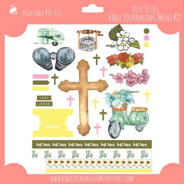 Just Jesus Mini Bible Journaling Kit