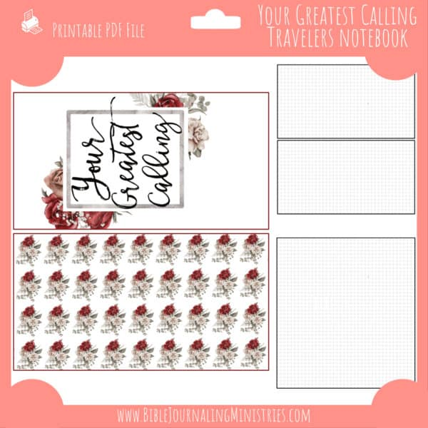 Your Greatest Calling Notebook Insert