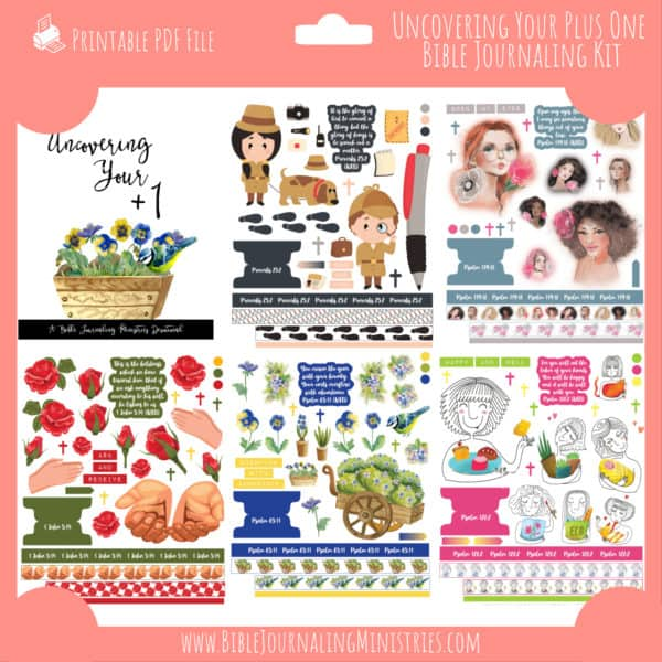Uncovering Your Plus One Bible Journaling Kit and Devotional - June 2021 Kit
