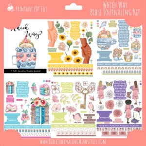 Which Way Bible Journaling Kit and Devotional - July 2021 Kit