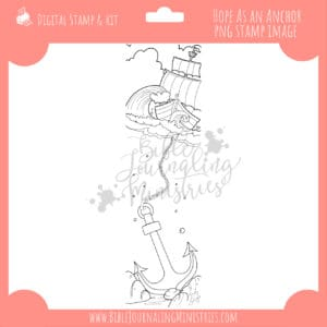 Hope as an Anchor Digital Stamp