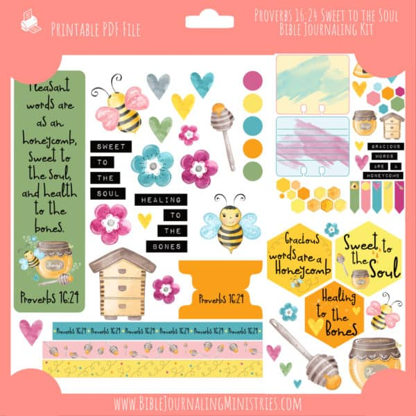 Proverbs 16:24 - Sweet to the Soul Bible Journaling Kit