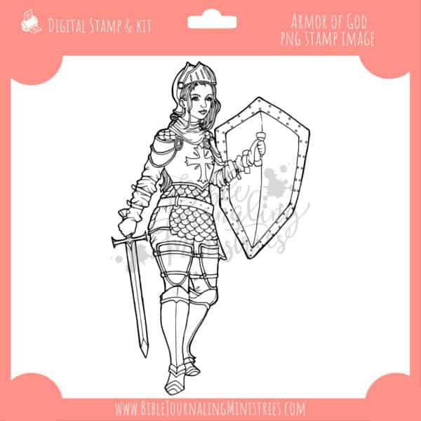 Armor of God Digital Stamp