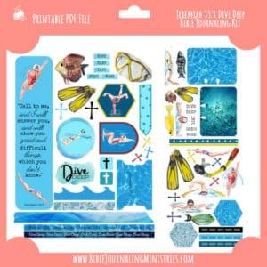 Jeremiah 33:3 - Deep Dive Bible Journaling Kit