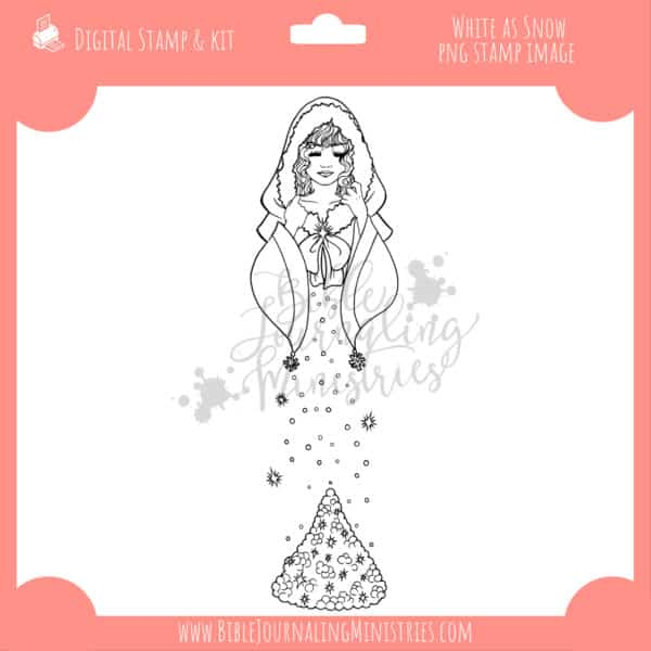 White as Snow Digital Stamp